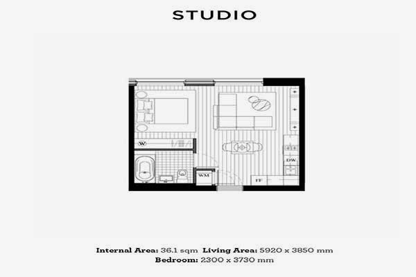 Royal Wharf London Studio Floor Plan