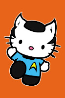 Hello Kitty in Spock costume