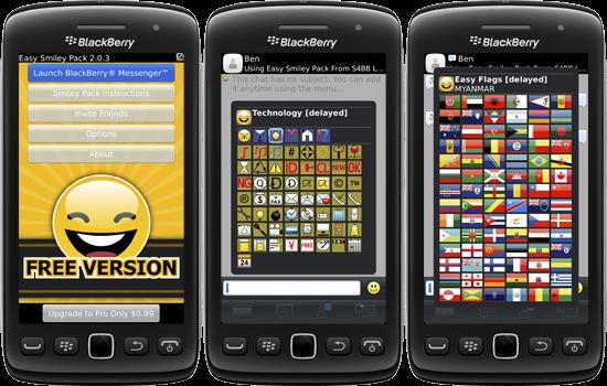 El BlackBerry Messenger es el buque insignia de los dispositivos BlackBerry, cada día es usado por más usuarios y sus posibilidades van creciendo a medida que pasa el tiempo. Una de las características de esta aplicación son la posibilidad de añadir emoticonos a nuestros mensajes, pero todo hay que decirlo, la lista de emoticonos disponible es rácana y sólo hay una pequeña muestra si lo comparamos con los disponibles en otras aplicaciones similares, llámese Whatsapp o ChatOn. Todo tiene remedio y los chicos de S4BB han estado trabajando durante un largo tiempo en la nueva versión de una de sus