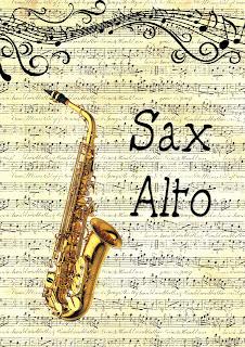 capas caderno de musica instrumentos musicais sax alto para imprimir grátis