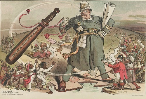 Police of the world political cartoon from 1905