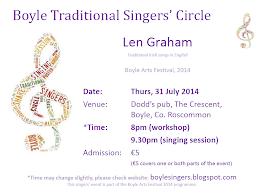 Len Graham: 2014 Boyle Arts Festival