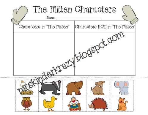 "Keepin' It Krazy: Jan Brett's ""The Mitten"" - Literacy Activities"