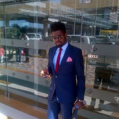 Basketmouth at 2face's wedding