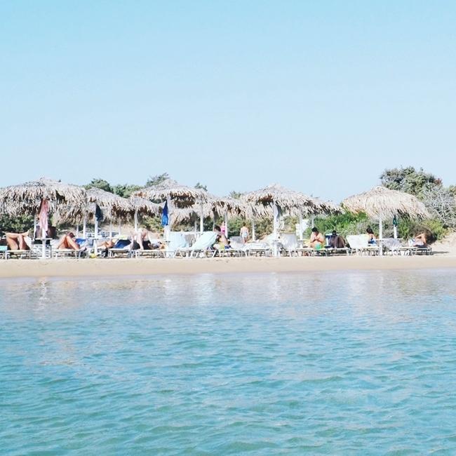 Jelena Zivanovic Instagram @lelazivanovic.Glam fab week.Mikri Santa Maria beach Paros island.Paros travel guide.