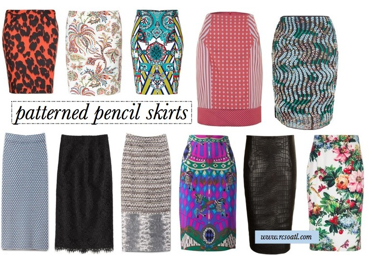 Real College Student of Atlanta: Patterned pencil skirts