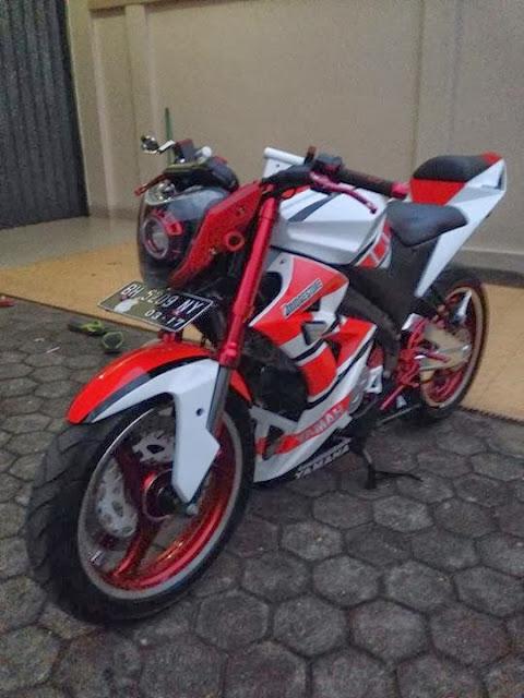 Modif Yamaha New Vixion Street Fighter
