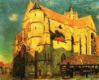 Альфред Сислей. Церковь в Морэ. 1893.