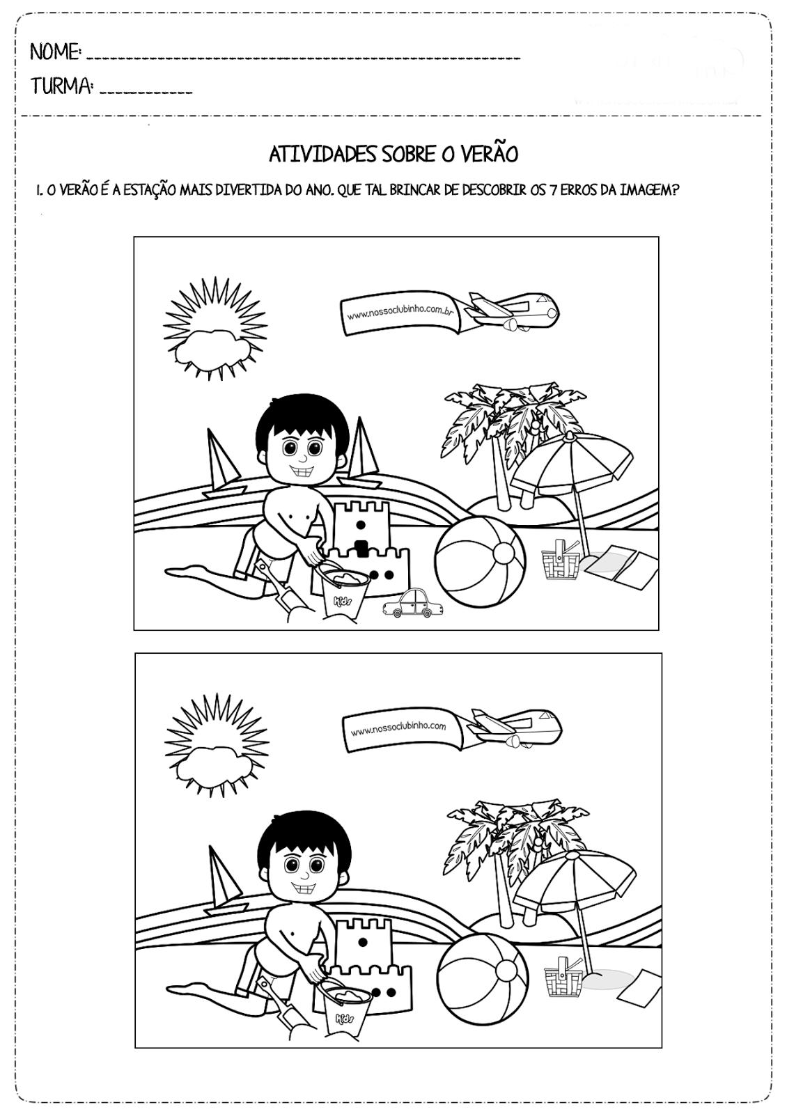 Desenhos Para Colorir Jogos dos 7 erros