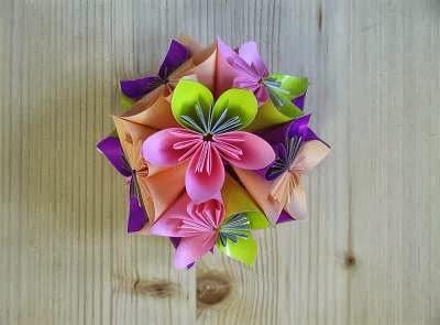 làm quả cầu hoa giấy orimagi trang trí phòng 6