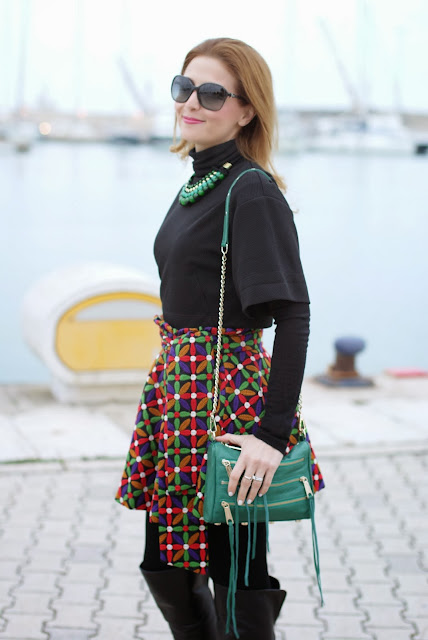 Let them stare bow skirt, Rebecca Minkoff zipper bag, Fashion and Cookies, fashion blogger