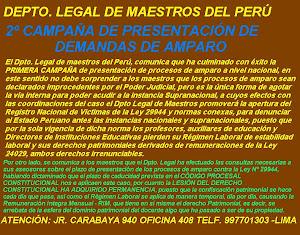 SEGUNDA CAMPAÑA DE PRESENTACIÓN DE DEMANDA DE AMPARO