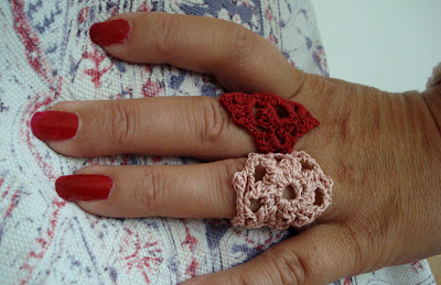 crafty jewelry: lace rings