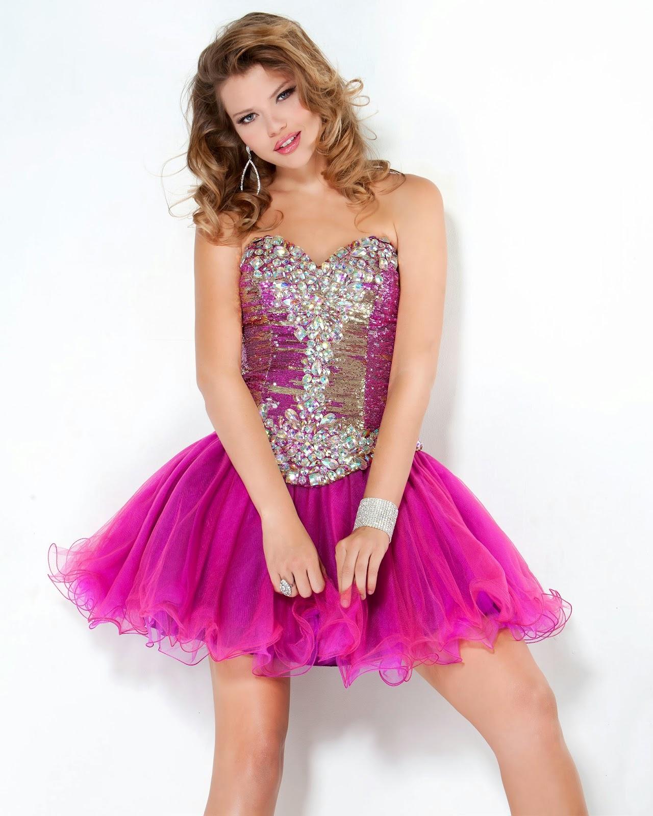 vestido de festa curto rosa com saia em tule - fotos e modelos
