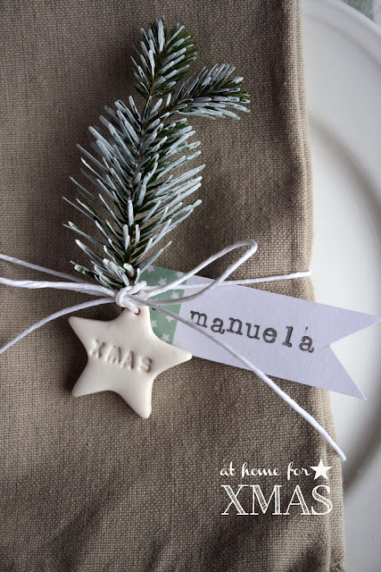 personalised clay napkin decorations