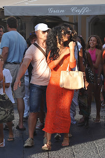 Rihanna out and about in Capri
