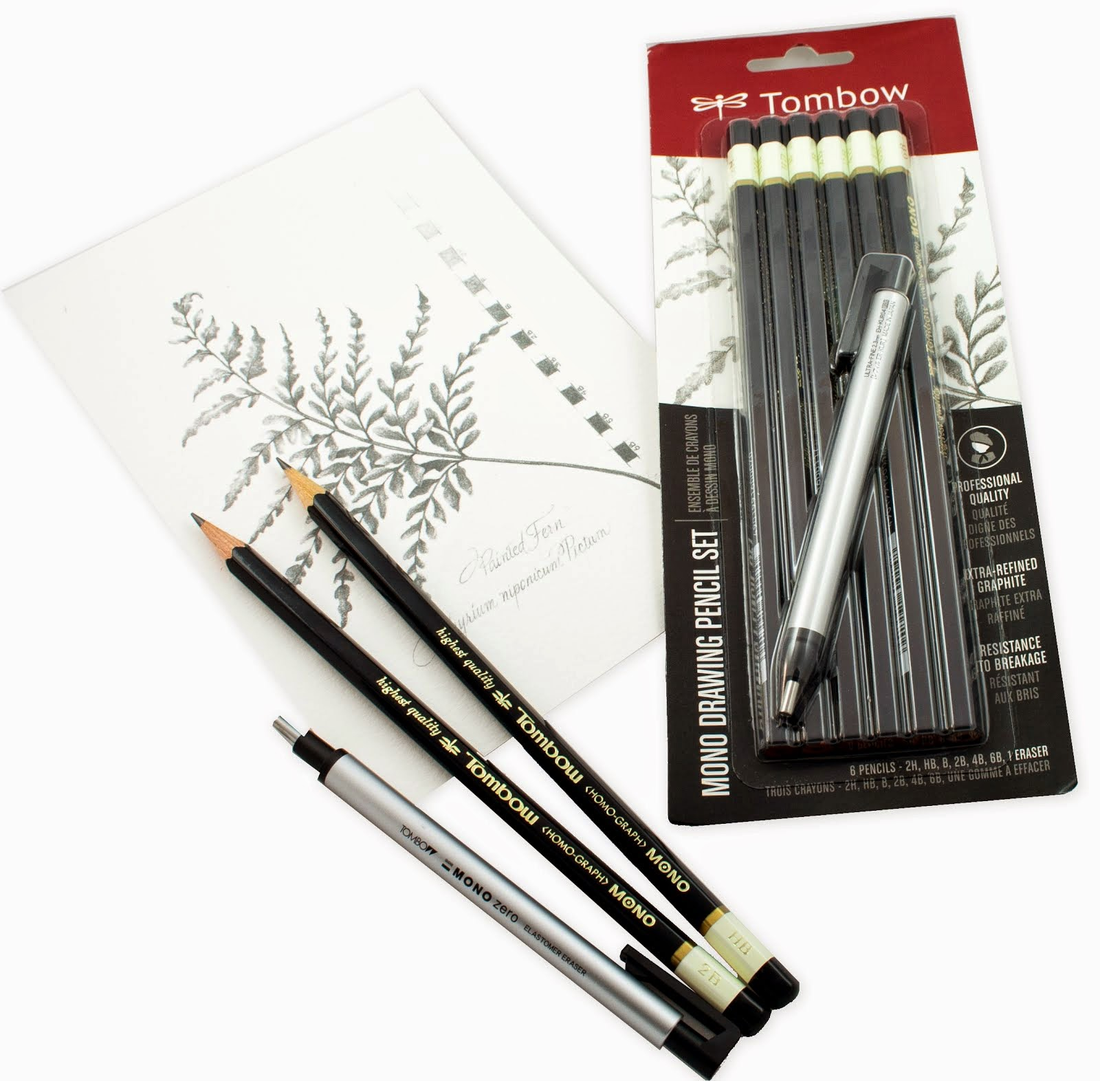 Tombow Drawing Pencils and Erasers