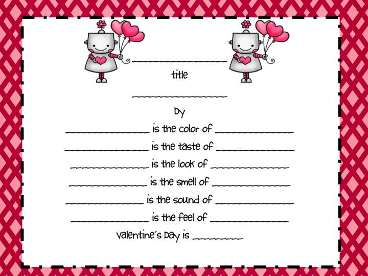 Valentines day poetry grammar review fancy free in fourth from these templates the students can go write a rough draft poem on a separate piece of paper and meet with the teacher to make sure that they have used pronofoot35fo Images