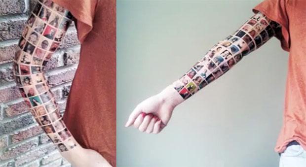 Tatuaje amigos de Facebook