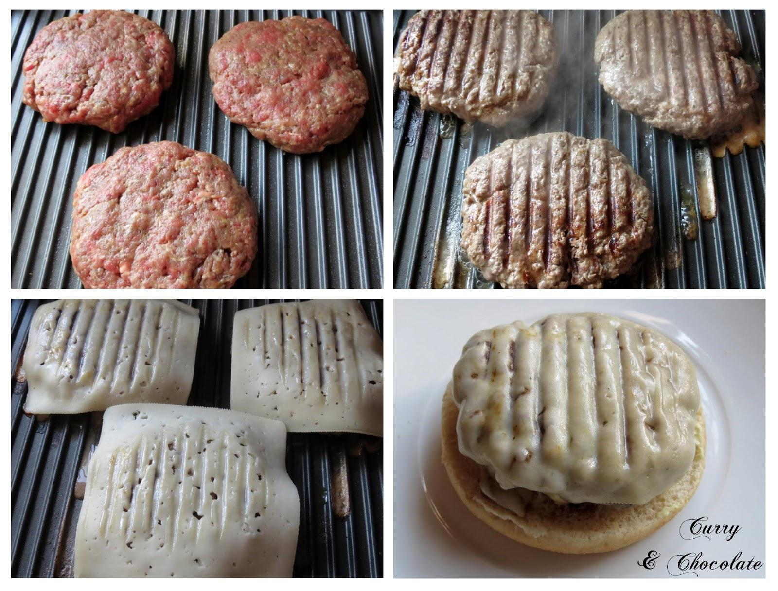 Preparando las hamburguesas