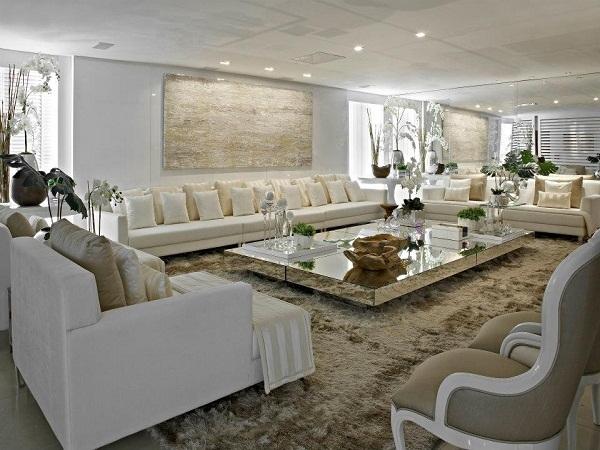 Salas De Estar Grandes E Luxuosas