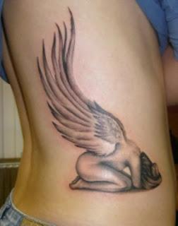 Tatuagens anjos - Anjo com asa grande