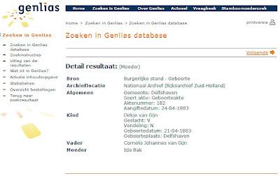 Screenshot Genlias