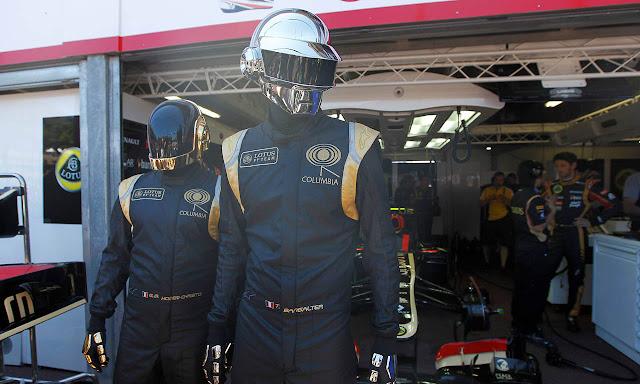 Daft Punk w barwach Lotus Renault na GP Monako