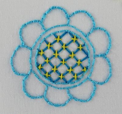 Big B 100 Stitches Trellis Or Jacobean Couching Stitch