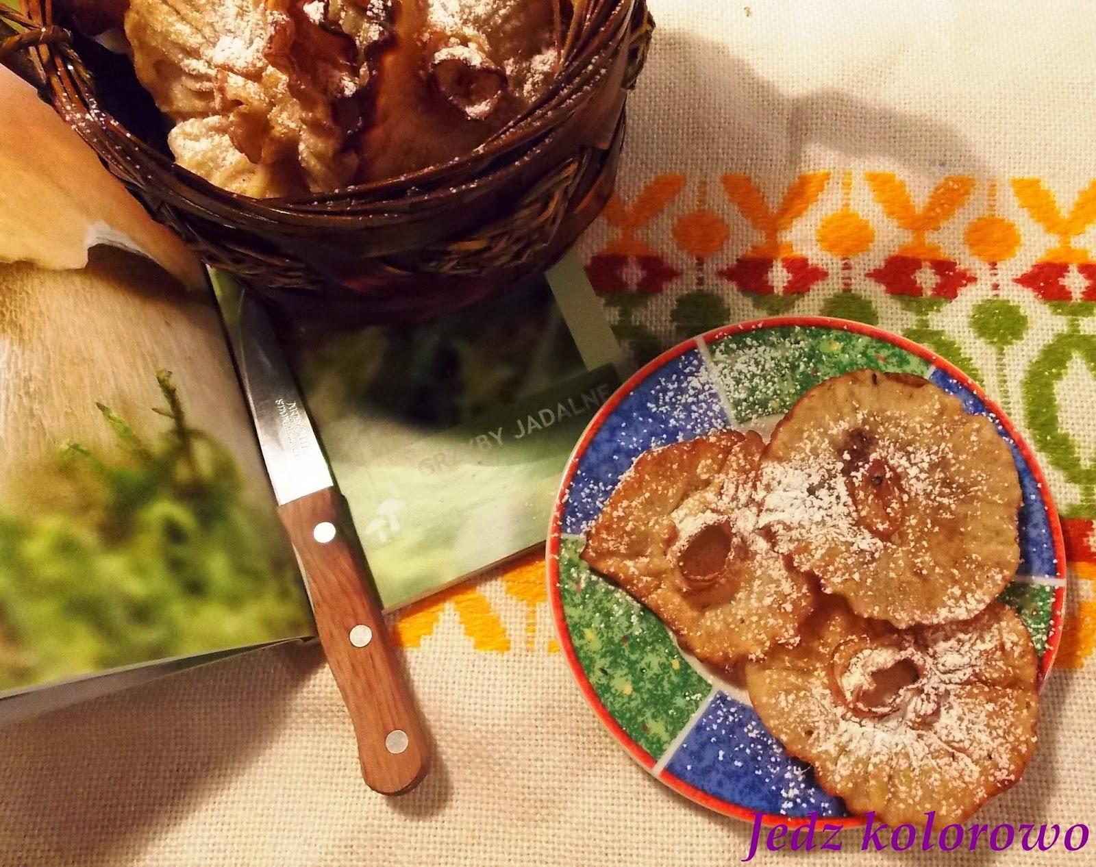 smażone ciastka grzybki