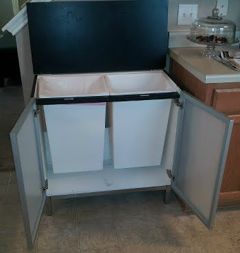 Bathroom Sink Base : Bathroom Sink Base to Trash/Recycling Center Last Minute Geek