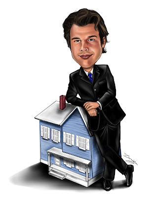 Real Estate Brocker Caricature