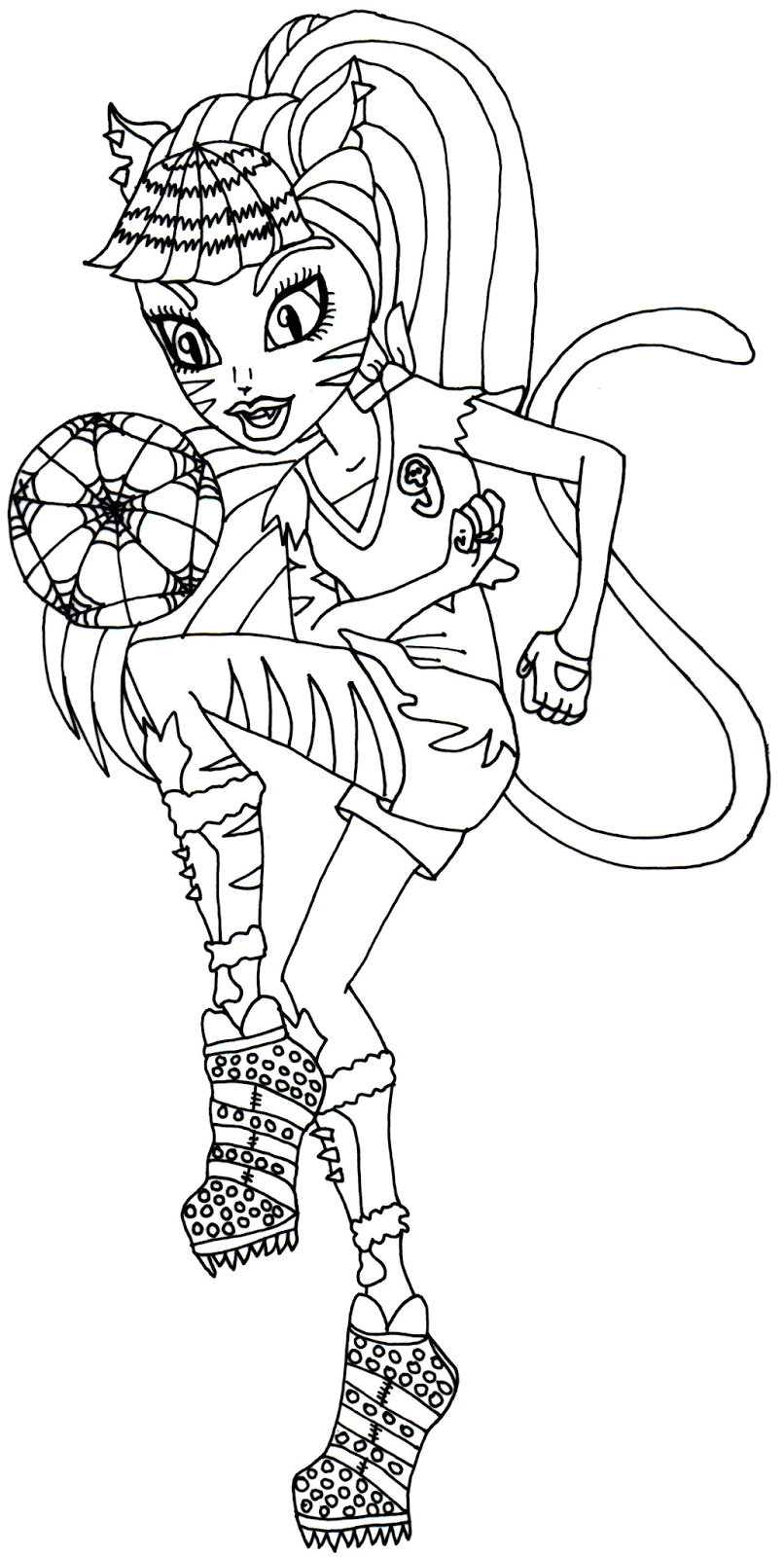 monster high coloring pages to print for free - free printable monster high coloring pages toralei stripe