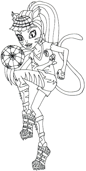 monster high toralei coloring pages