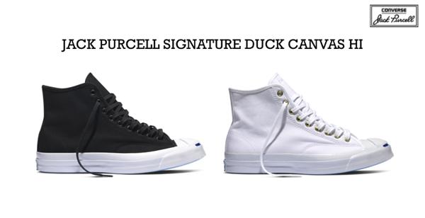 0419010b01fb40 Converse First String Jack Purcell Signature Duck Canvas Hi Quickstrike