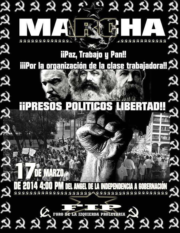 VIDEO DE LA MARCHA DE FIP POR PAZ, TRABAJO Y PAN