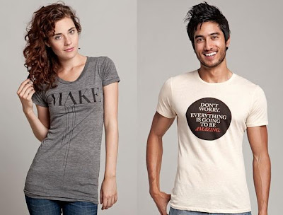 "The Olly Moss Threadless Select T-Shirt Collection - ""Make"" & ""Don't Worry Everything Is Going To Be Amazing"" T-Shirts"