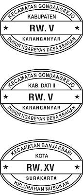 Contoh Stempel RW (Rukun Warga)