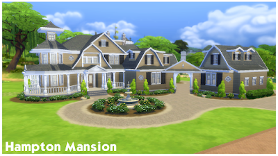 My sims 4 blog hampton mansion by simsnextdoors for Sims 2 mansiones y jardines