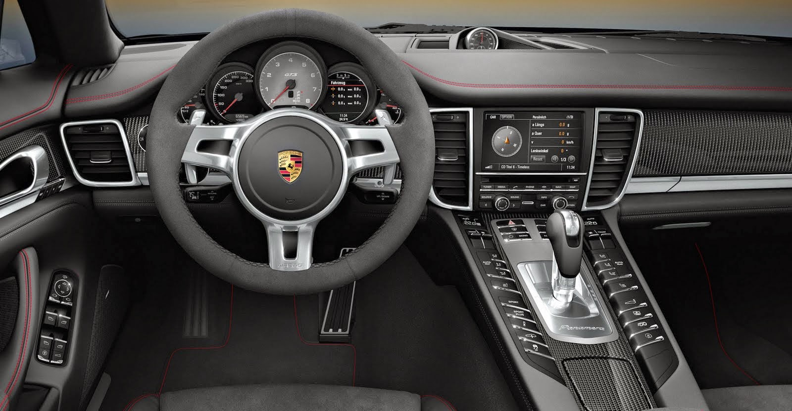 Porsche Panamera inside