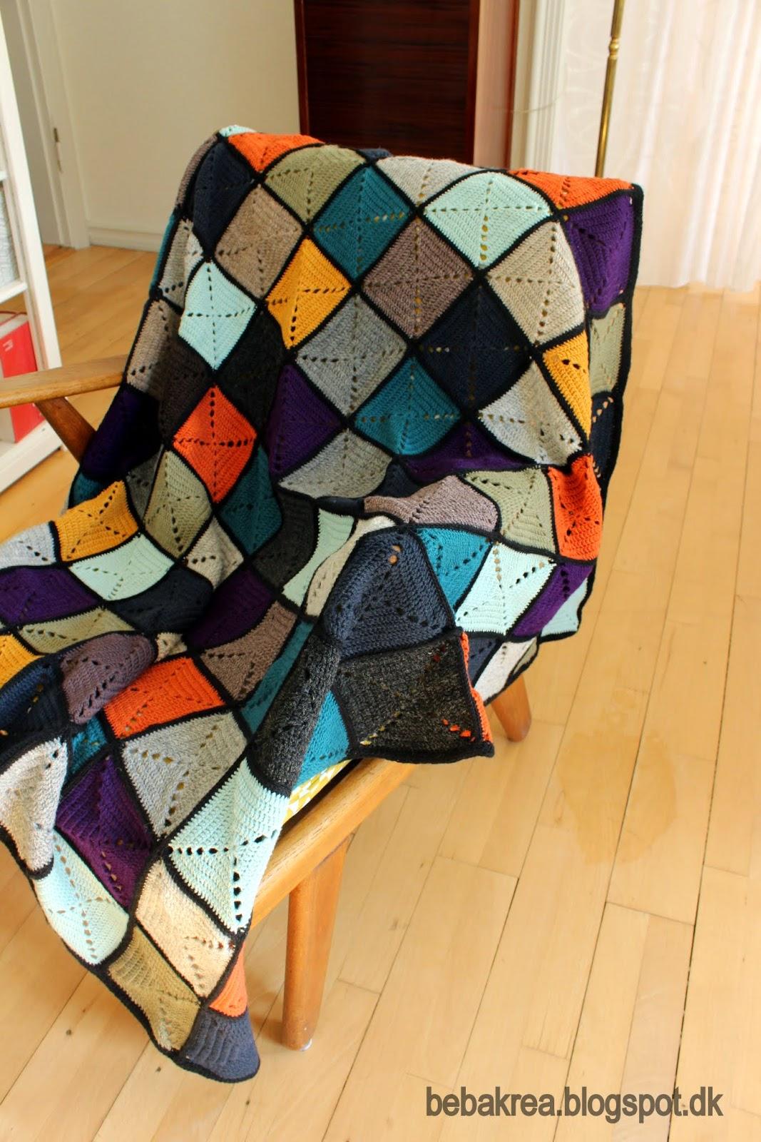 hæklet tæppe lappetæppe lutter idyl firkant granny square