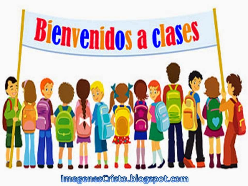 imágenes de colores para niños de bienvenidos a clases para los maestros