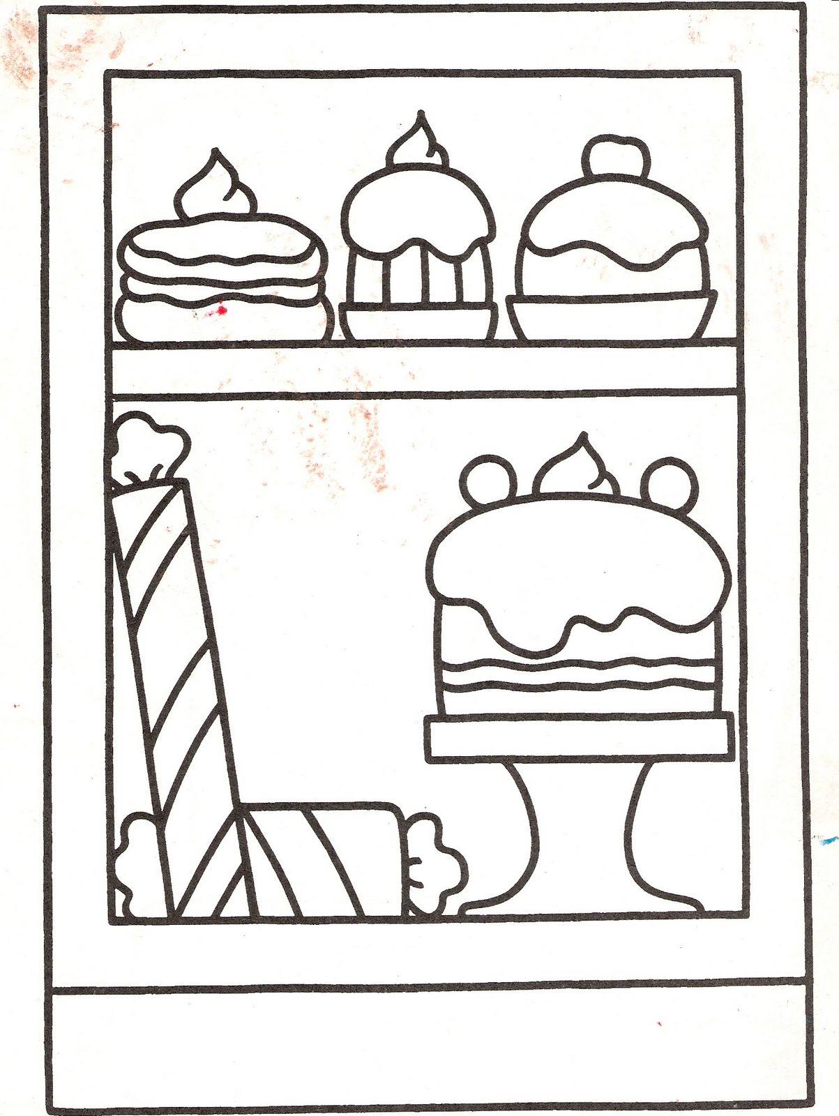 Dibujos para imprimir y colorear: Pasteles para colorear