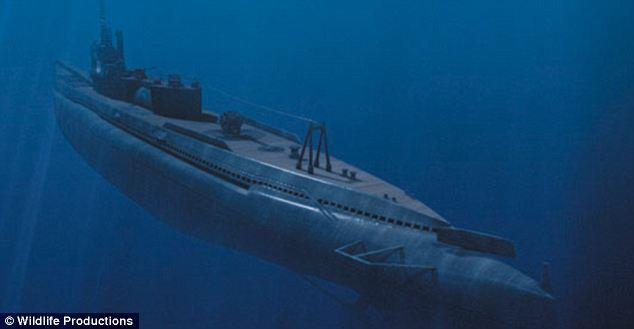 Dua kapal selam angkatan laut (al) jepang yang pembawa pasukan jepang