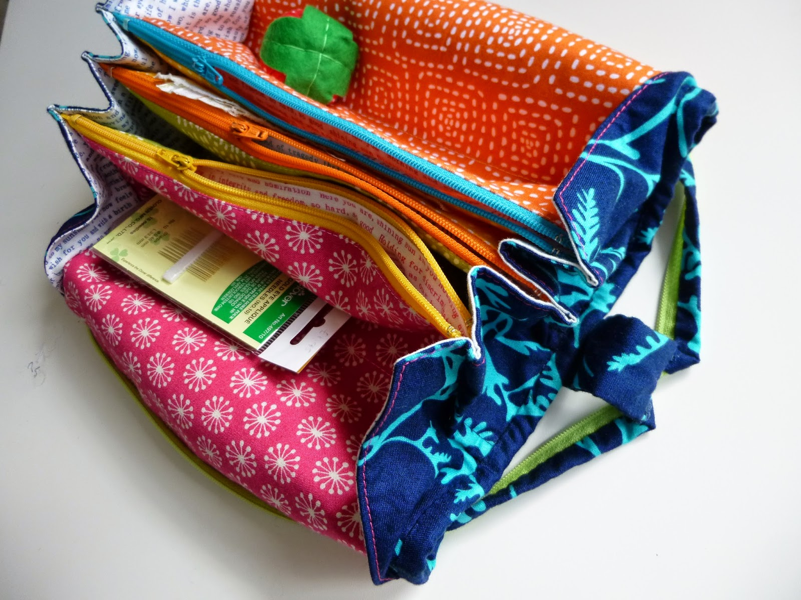 Tips on making the Sew Together Bag, Pattern by Sew Demented, made by fabricandflowers | Sonia Spence