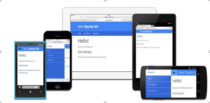 Visual Tampilan Responsive dari Web Starter Kit