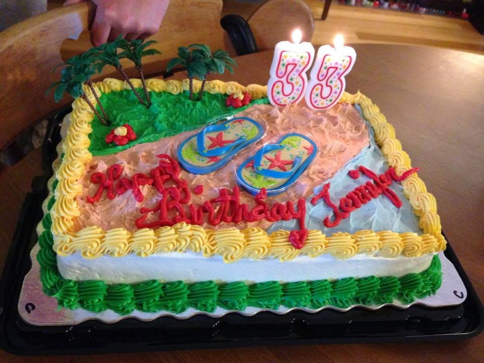 Birthday Cake for 33rd Birthday