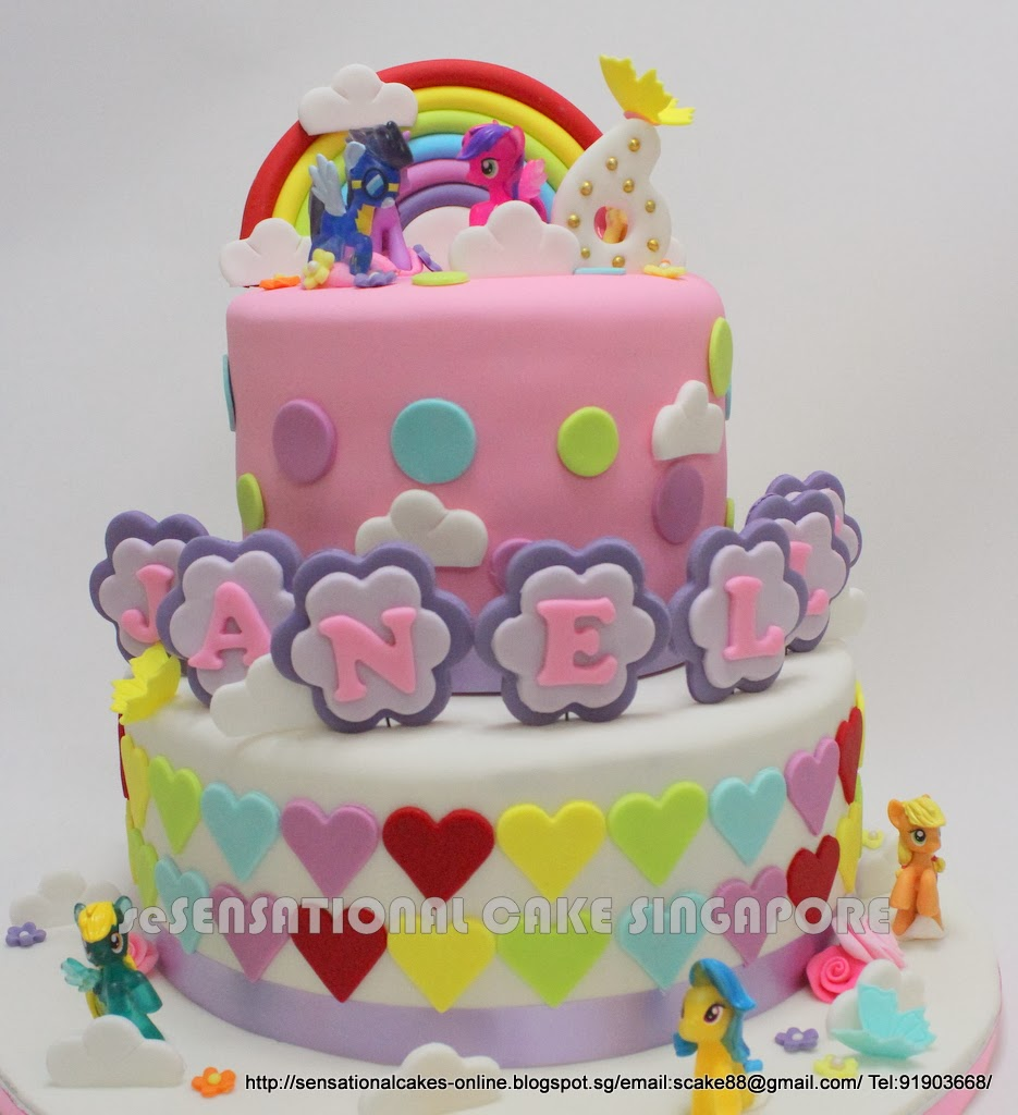 The Sensational Cakes My Pony Rainbow Theme Design 2 Tier Birthday