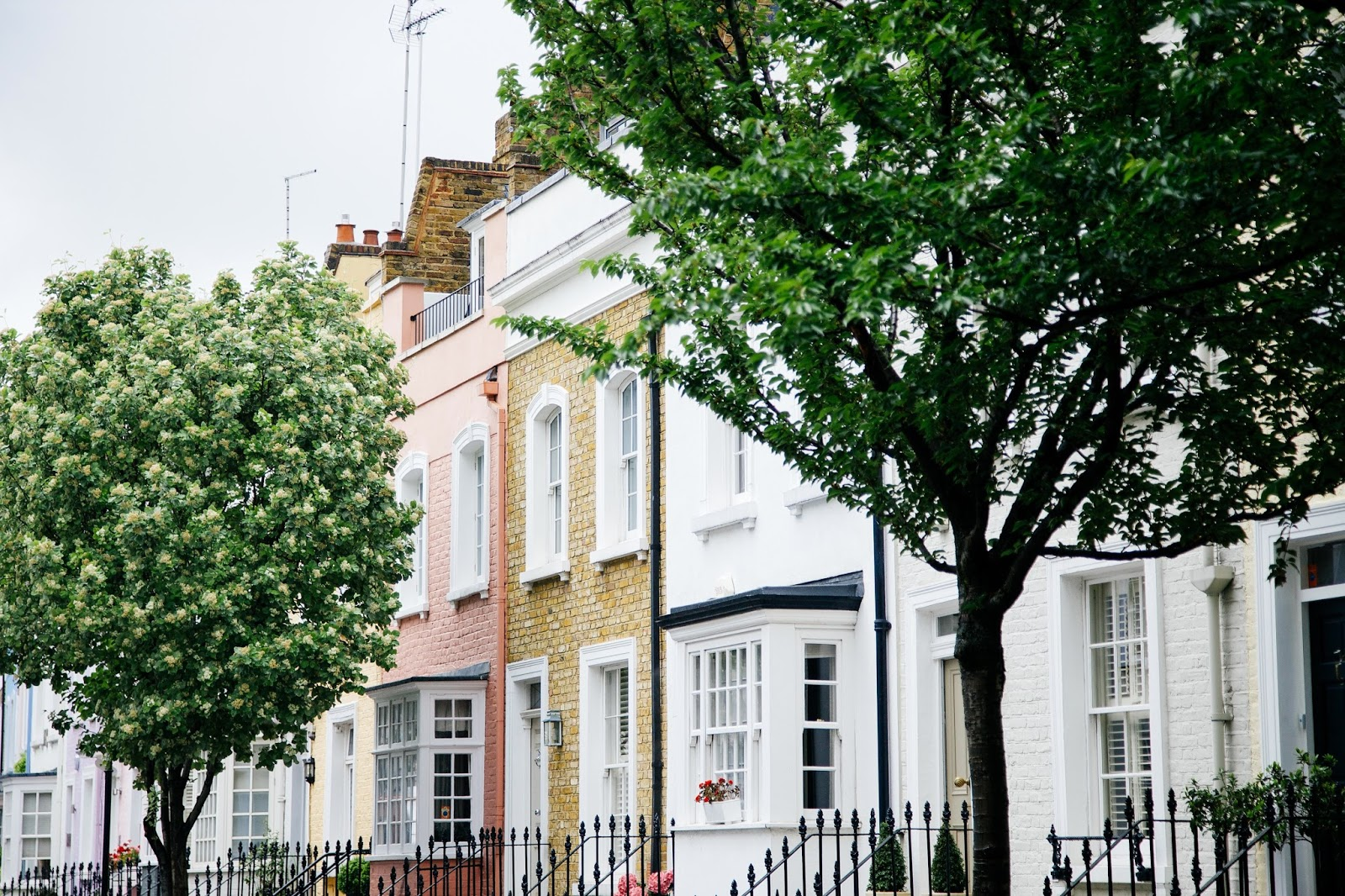 Row of houses - does where you live affect your health - Benenden Risk By Region Tool - motherdistracted.co.uk