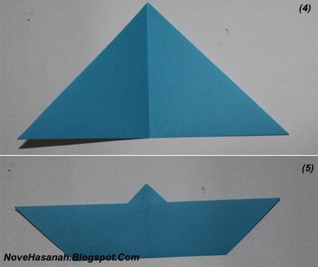 langkah-langkah melipat kertas origami untuk membuat bentuk binatang kelelawar yang unik, cocok untuk anak SD kelas 4, 5, dan 6, serta untuk pemula 4